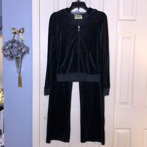 Juicy Couture black velour sweatsuit